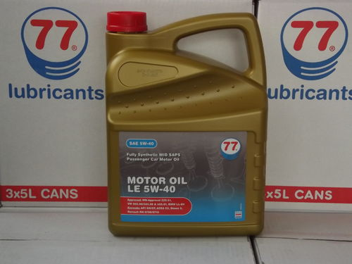 77 Lubricants -  MOTOR OIL LE SAE 5W-40 - 5 ltr.
