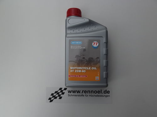 77 Lubricants MOTORCYCLE OIL 4T SAE 25W-60 - 1 ltr. Dose
